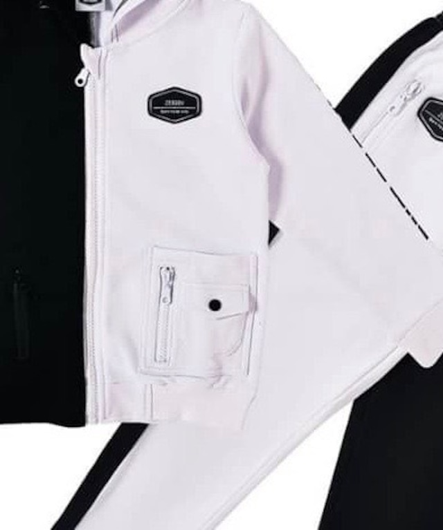ZEBABY TWO TONE PARKER AND SWEAT PANTS SET(税込み)