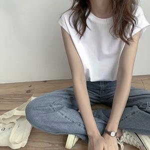 【送料無料】シンプルショートスリーブシャツ  T137