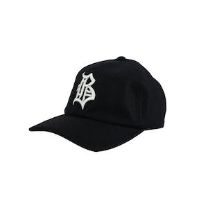 """OL""""D""""-B- WOOL VISCOSE CAP [BLACK]"""