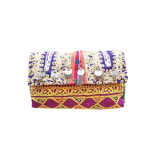 アフガン民族衣装リメイク ボヘミアン・クラッチバック    【一点物】