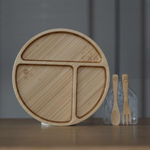 となりのトトロ×FUNFAM 竹食器 円型プレートセット(3154)