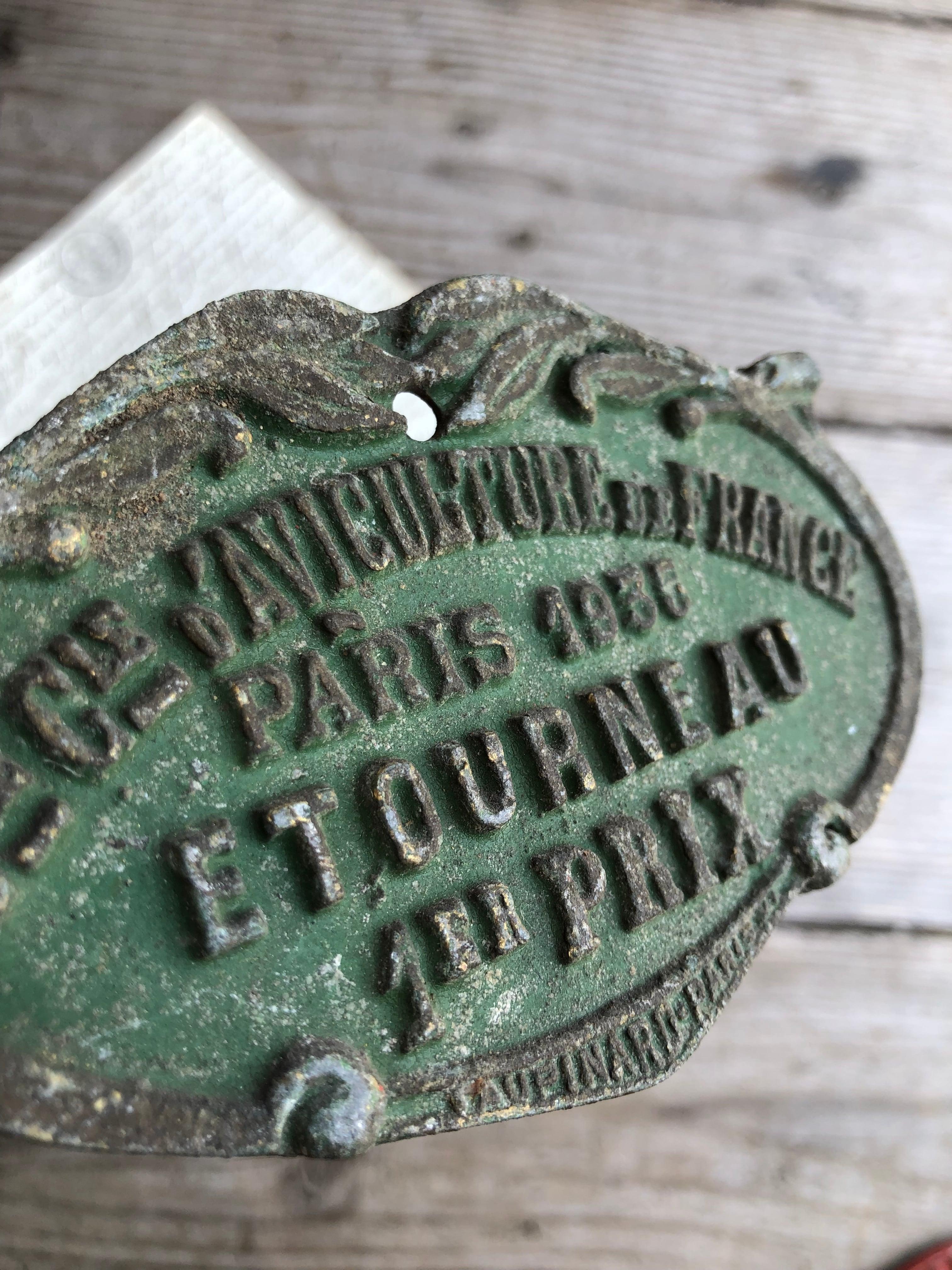 1935 PARIS ETOURNEAU アイアンプレート グリーン