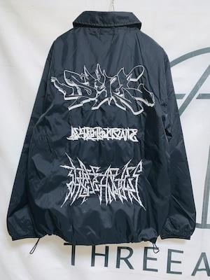 Nylon coach jacket -three graffiti-