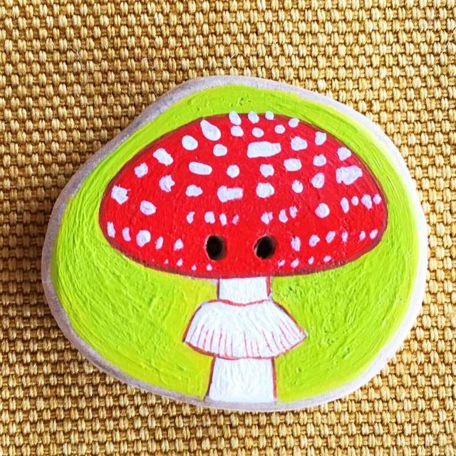 【富良野 森の贈り物】森のきのこの飾りボタン2