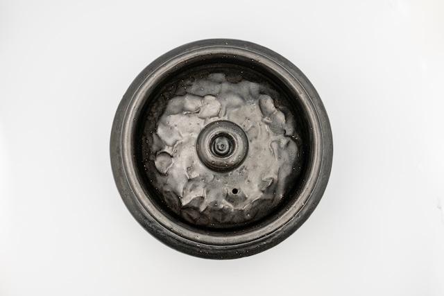 ◆受注生産◆  黒釉2合羽釜