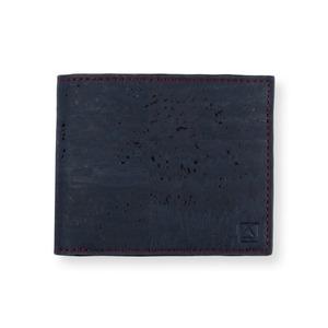 VEGAN  SLIMFOLD WALLET  BLUE / 二つ折り財布 ブルー&ブラウン コルク製