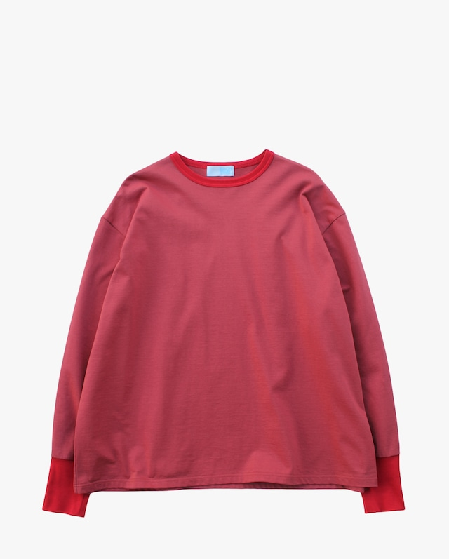 EACHTIME. Trim L/S Tee  Red