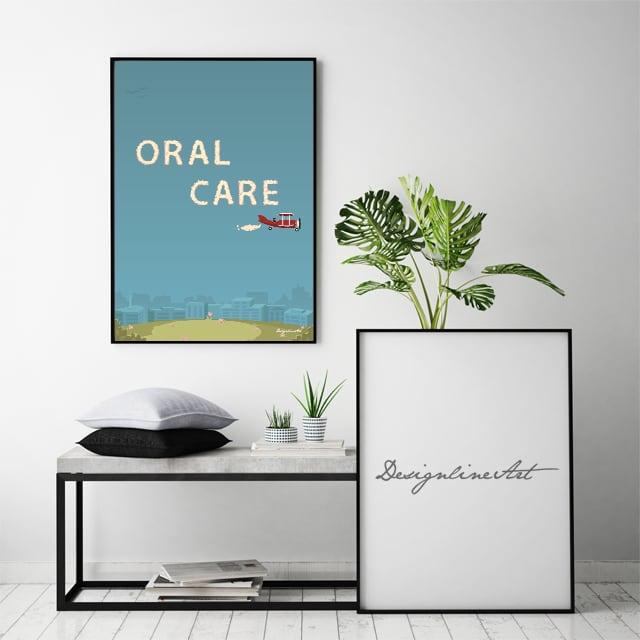 ORAL CARE B3ポスター(フレーム入り)