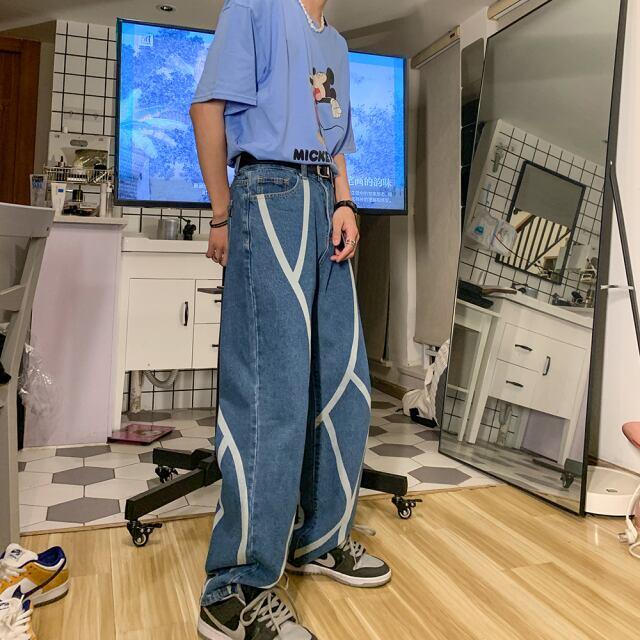 【人気No.10】コントラストジーンズ YH4794