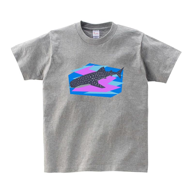 動物Tシャツ-ジンベイザメ(杢グレー)