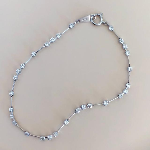 ダイヤモンド ライン ブレスレット 1.00ct  プラチナ チェカ