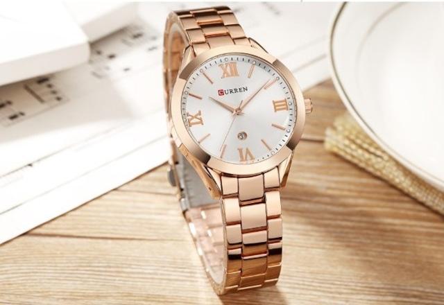 CURREN LT-C9007(rose-white) レディース腕時計