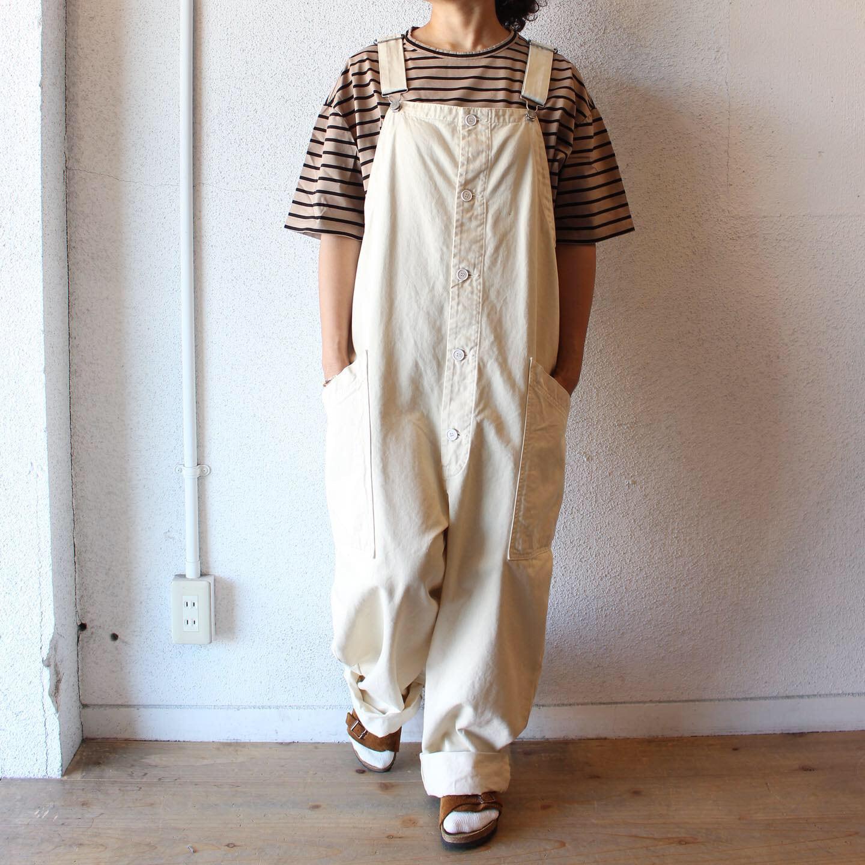 HARVESTY (ハーベスティ)/ CHINO CLOTH OVERALLS(チノクロス オーバーオール)ホワイト