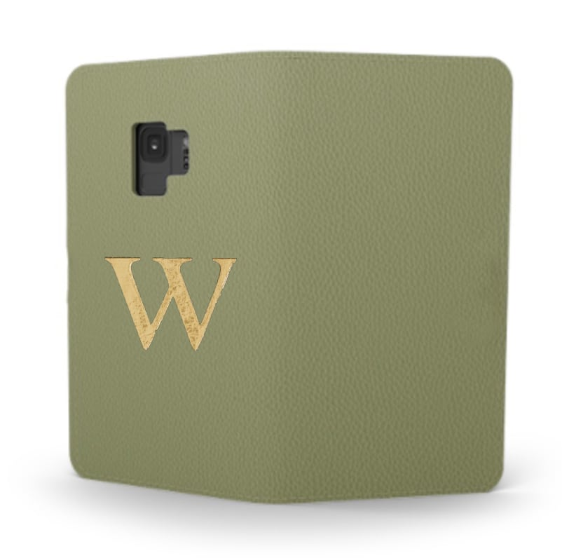 Galaxy Premium Smooth Leather Case (Green Tea) : Book Cover