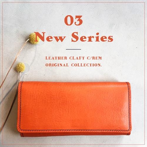 オレンジの長財布