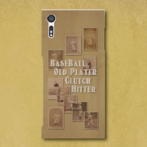 ベースボール・オールドプレイヤー/ Androidスマホケース(ハードケース)
