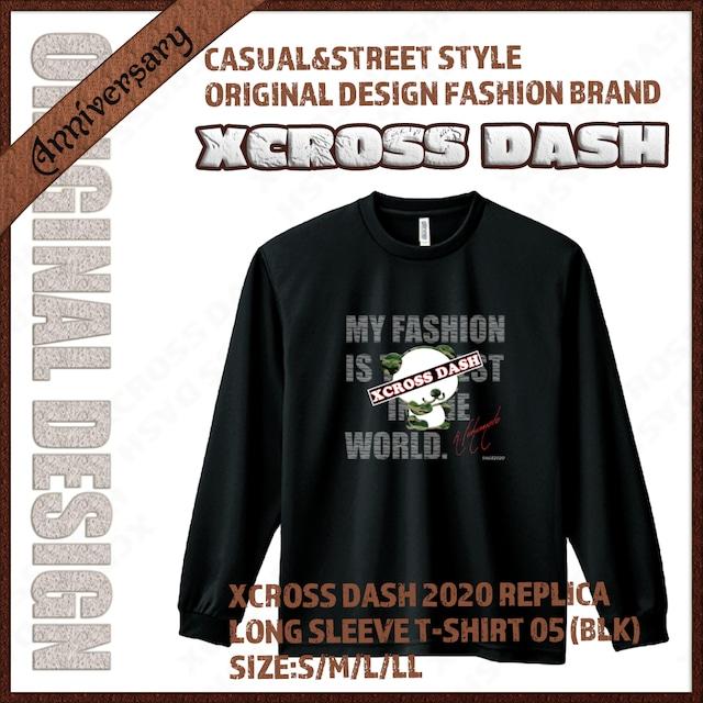 XCROSS DASH 2020 REPLICA Long sleeve T-SHIRT 05 (BLK) レプリカデザイン長袖Tシャツ