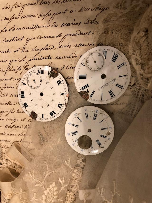 フランスブロカント ジャンク時計パーツ 3個セット CP003