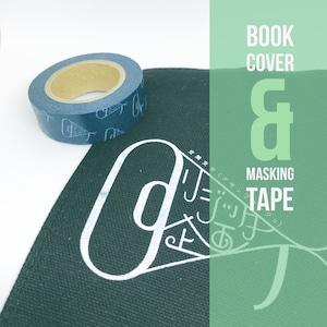 【セット】ロゴ入りキャンバスブックカバー(文庫本)+マスキングテープセット