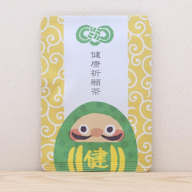 健康祈願茶(みどりのダルマさん)|ごあいさつ茶