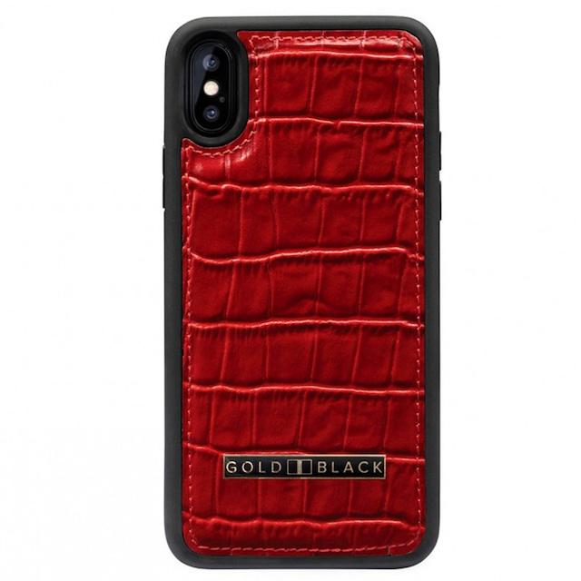 ゴールドブラック(GOLDBLACK) iPHONE X / XS CASE CROCO RED 18112