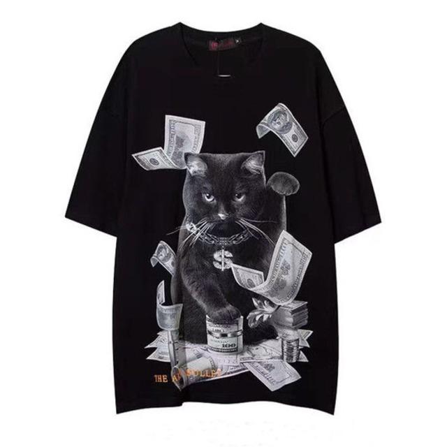 【トップス】ストリートプリント半袖Tシャツ47232649