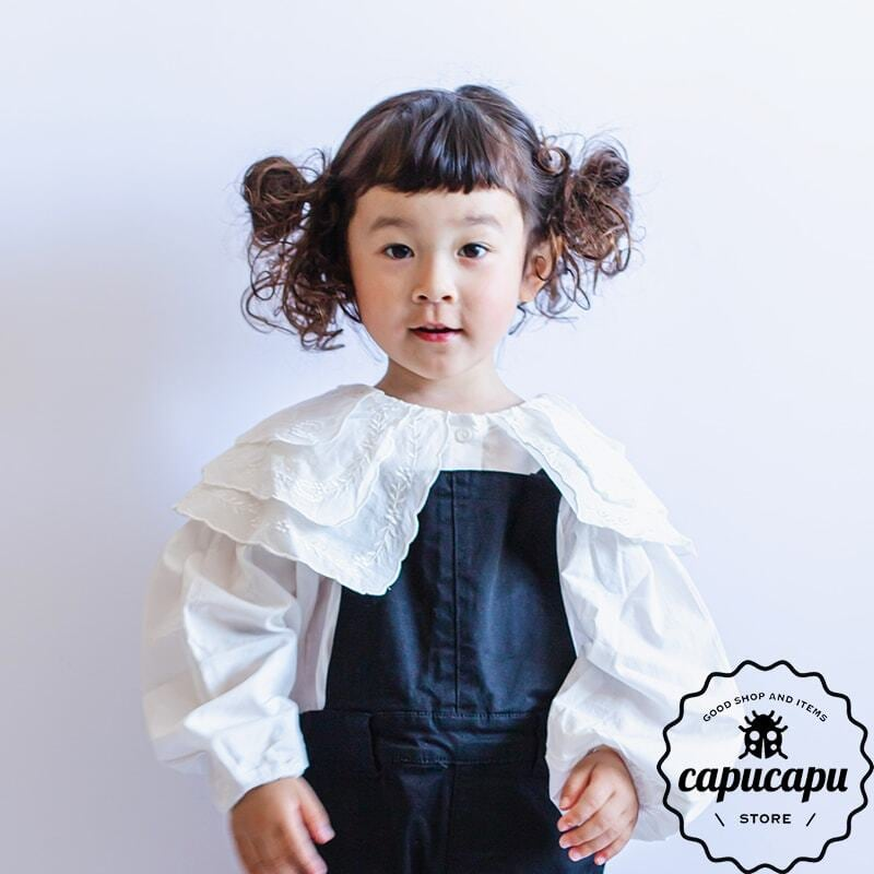 «sold out»«即納» Frill triple collar blous