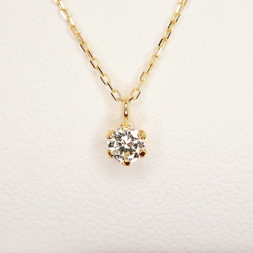 K18ダイヤモンドペンダントネックレス - 1537