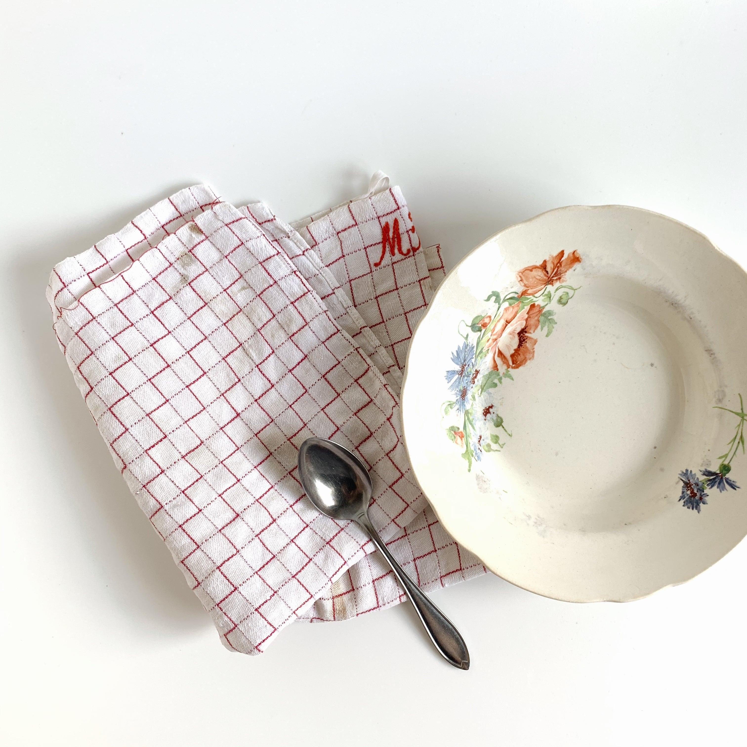ARABIA / Soup plate【cornflower & poppy】