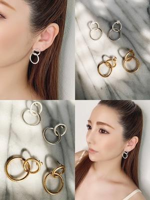 double ringピアス・ミディアム ¥2,600+tax