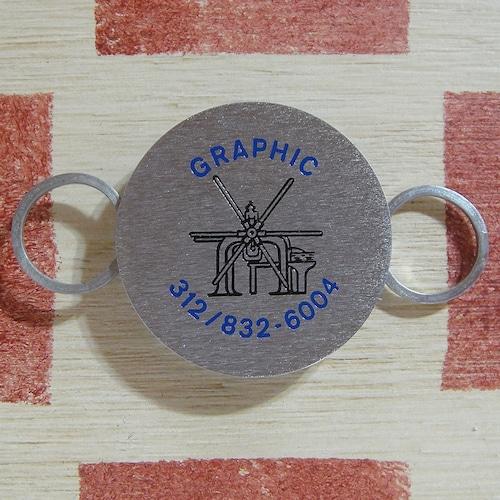 アメリカ GRAPHIC[グラフィック ]美術用品店ノベルティ版画プレス機ZIPPOキーホルダー箱付き未使用