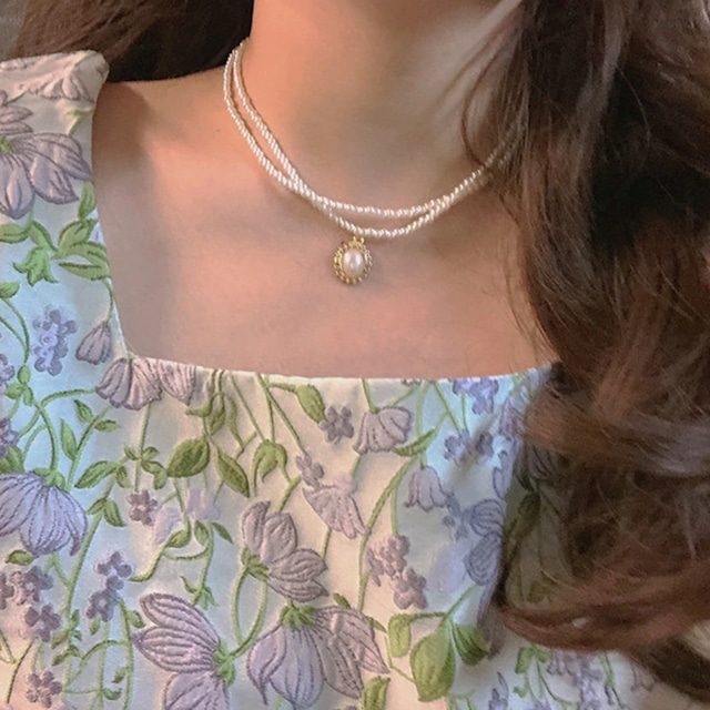 double pearl choker necklace