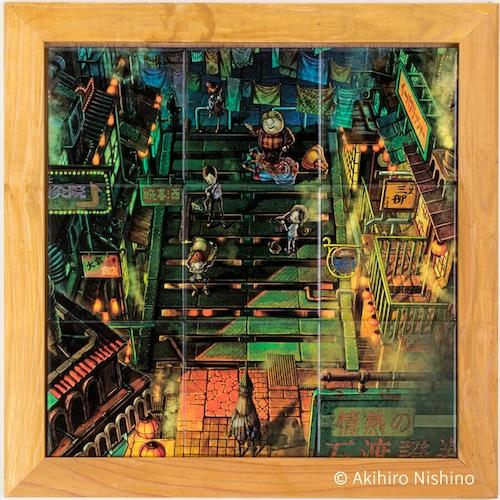 えんとつ町のプペルタイル [ A-07 ] 木枠付