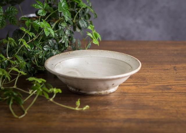 白マット釉 6寸 浅鉢(スープボウル・深皿・スープ皿)/くるり窯
