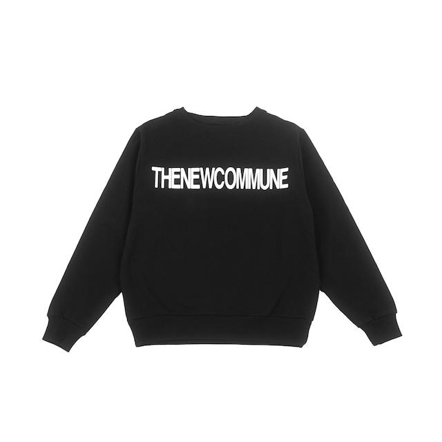 THENEWCOMMUNE LOGO CREWNECK SWEAT / BLACK - メイン画像