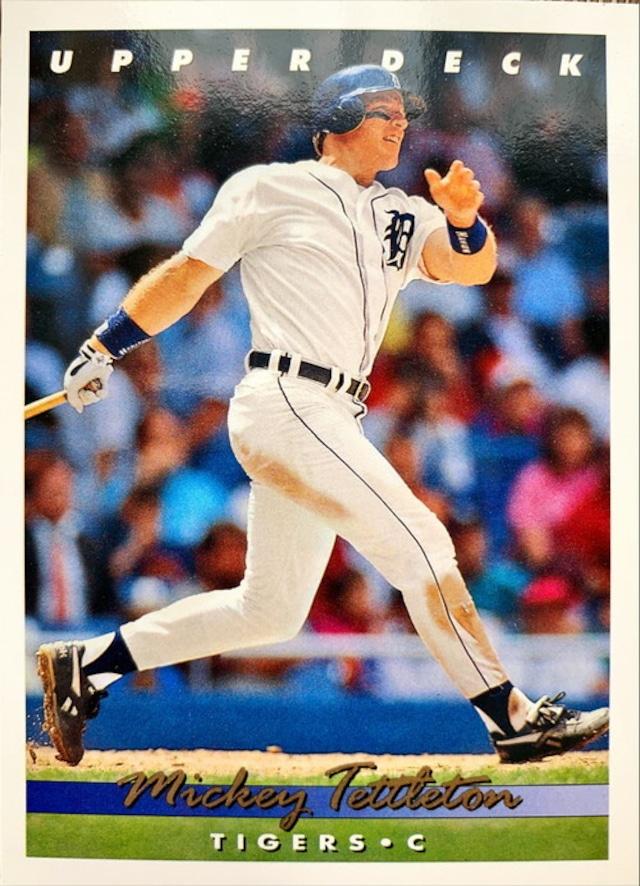 MLBカード 93UPPERDECK Mickey Tettleton #086 TIGERS