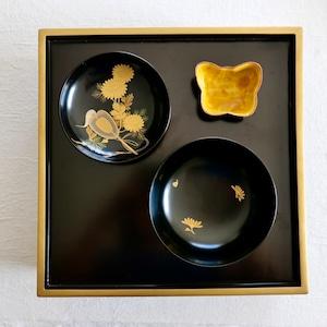 【30917】 輪島塗 蒔絵 碗(1個) / Wajima Nuri Wooden Bowl & Lid /