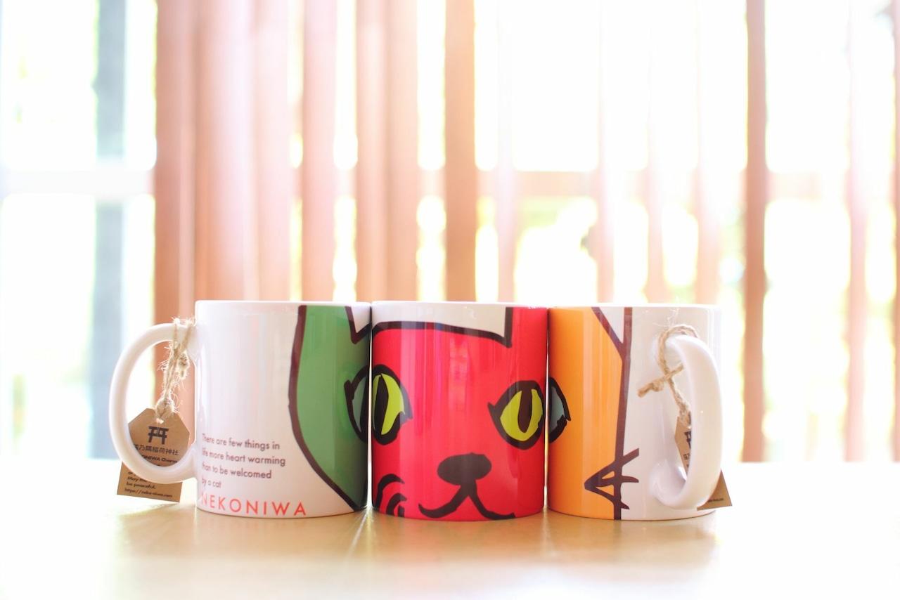 3個セット★お得★溢れんばかりかの猫庭マグカップ【好きな色選べます‼】