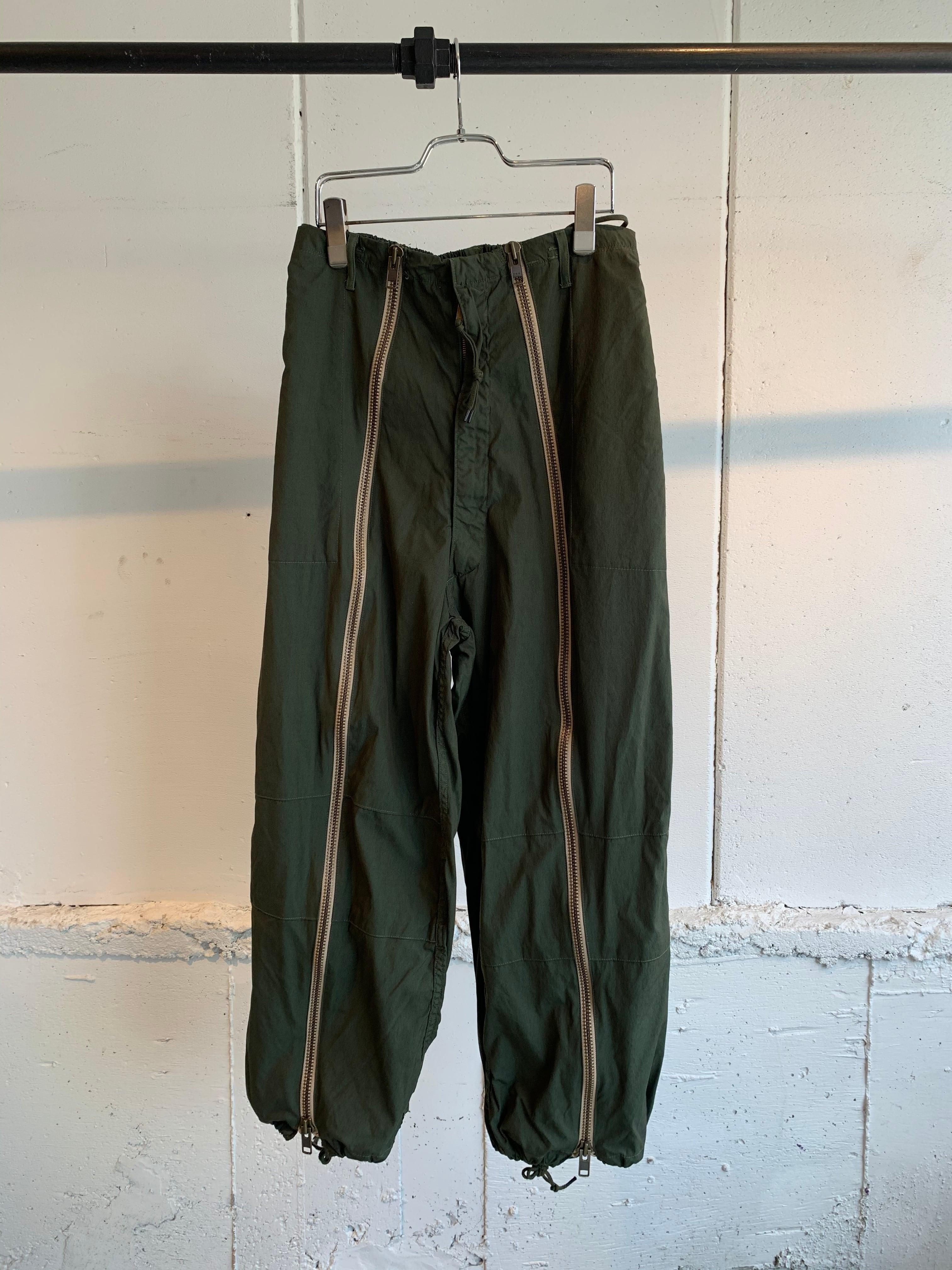 77circa circa make front zip snowcamouflage pants (Olive)