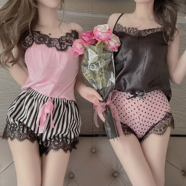 ❤︎ pinkstripe roomwear 2color