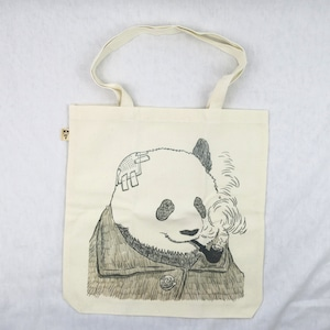 ゴッホに扮したパンダが渋い!「スモーキング・パンダ」のトートバッグ