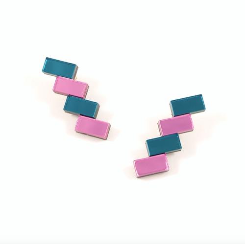 "MYSTIC FORMS""Geometric Perspex Statement Mini Earrings""   FORM033 ピアス"