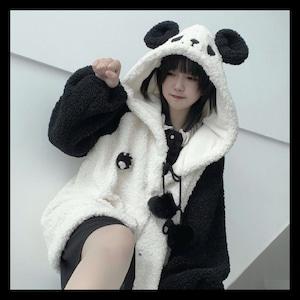 【お取り寄せ】【⚡️10/28まで13%OFF⚡️】ゆめかわ もこもこ パンダちゃん コート アウター