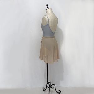 "❖""Fiorina"" Ballet Wrap Skirt -  Nude Ⅱ [Sheer]( ヌードⅡ [シアー])"