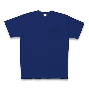 Programming PRINT T-shirt DarkBlue Ver. - No Comment / C Language -