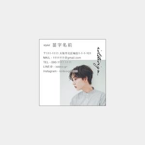 No.011_デザインテンプレート名刺_Square Size