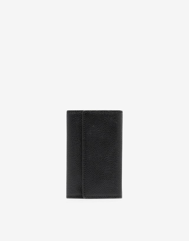 Maison Margiela【メゾン マルジェラ 】6フック レザー キーホルダー( BLACK) .