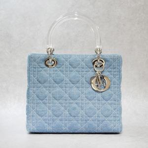 Christian Dior ディオール レディディオール カナージュ デニム 2Wayショルダーバッグ