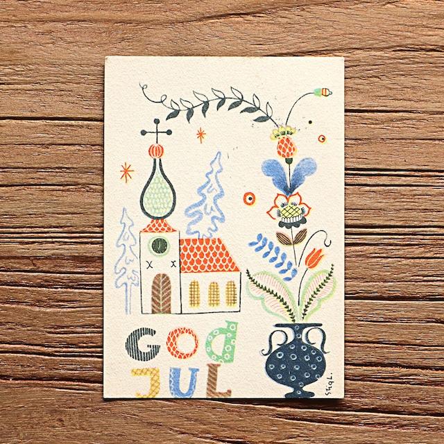クリスマスカード「Stig Lindberg(スティグ・リンドベリ)」《211001-01》