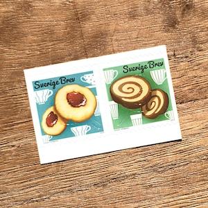 シール切手(未使用)「スウェーデンのクッキー - 2種セット(2013年発行)」